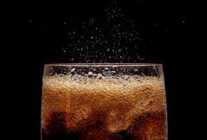 Fizzy glass of soda