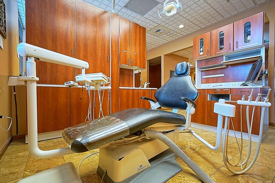 Close up of the dental chair in our dental office in Renton WA
